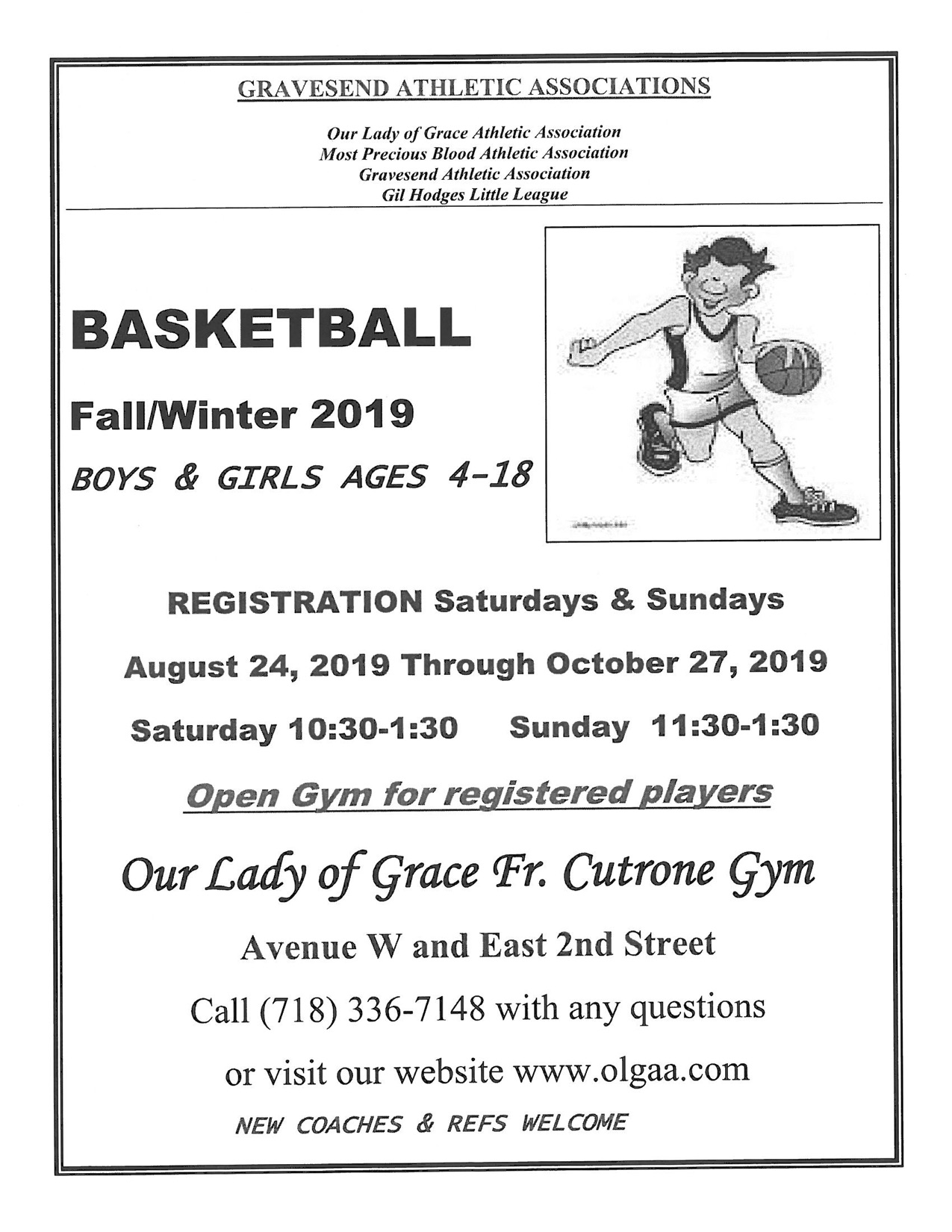 basketball registration information